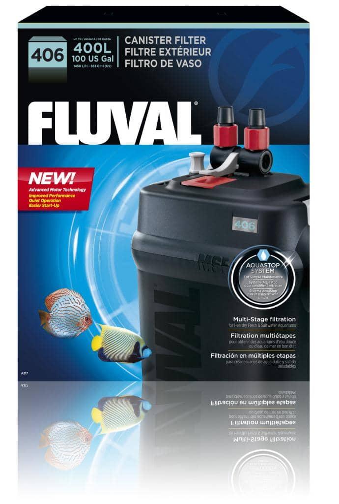 Fluval 406 External Aquarium Filter 400l A217