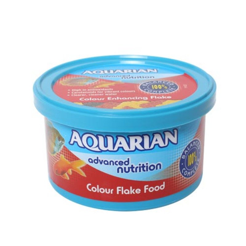 Aquarian Colour Food 25g For Tropical, Marine & Goldfish