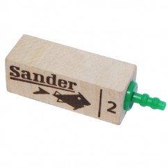 """Sander Wooden Airstone Diffuser Size 2"""" Marine Aquarium"""