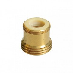 Python No Spill Clean and Fill Brass Adapter