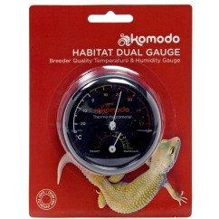 Komodo Combined Thermometer & Hygrometer Analogue