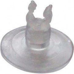 Suction cup with plastic clip (pack of 2)