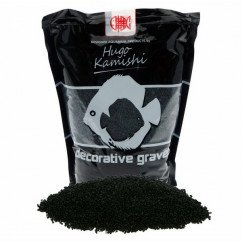 Black aquarium gravel