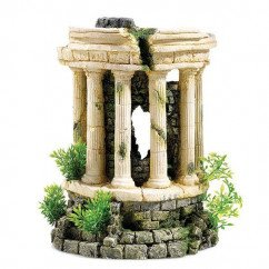 Classic Roman Tower With Plants - Air 2780