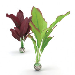 biOrb Silk Plants Medium 2 Pack Purple and Green