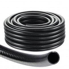 "Black Spiral Pond Hose 1.25"" (Per Metre)"