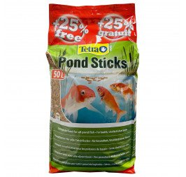 Tetra Pond Sticks - Floating Food Sticks 40L + 25% FREE (50L) / 4200g (T459)